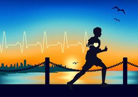Heart Rate Running Free Vector