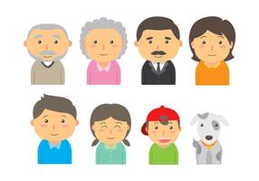 Cute Familia Icon Vectors
