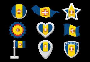 Vecteur d'icônes de Madère