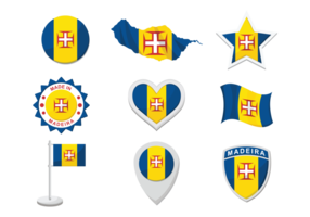 Madeira ikoner vektor