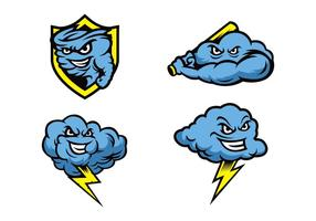 Free Storms Mascot Vector