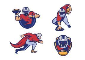 Gratis amerikansk fotboll logotyp Vector