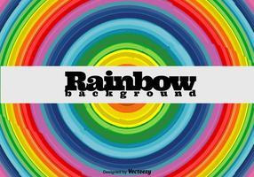El arco iris Fondo redondo - vector