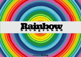 Rainbow Round bakgrund - vektor