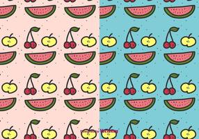 Cartoon Fruit Pattern Vector