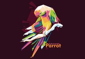 Papagei Vektor WPAP