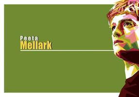 Ritratto di Hunger Games di Peeta Mellark Vector