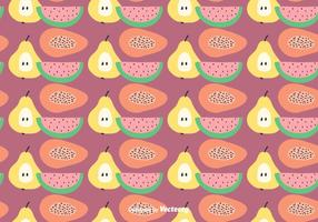 Fruit plat Motif Vector