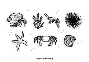 Sea Life Set Vector