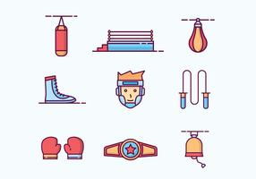 Free Outlined Boxing Icons vector