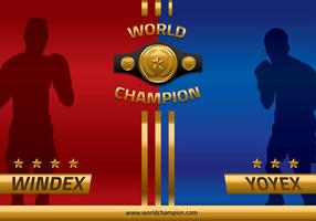 Championnat Belt Head to Head Vector