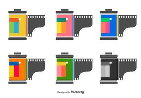 Film Canister Vector Icons