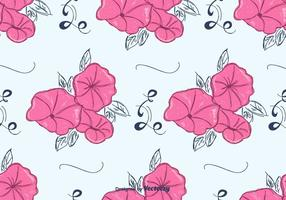 Pink Petunia Pattern Vector