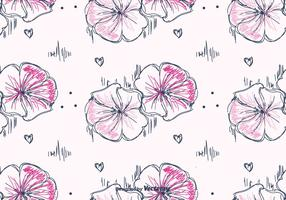 Hand Drawn Petunia Pattern Vector