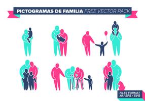 Pictogramas de Familia gratuit Vector Pack