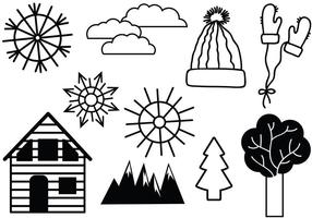 Free Winter 2 Vectors