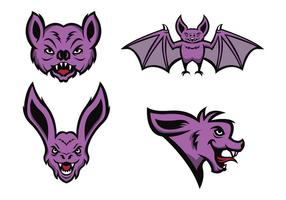 Los murciélagos libres vector de la mascota