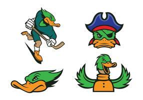 Canards gratuits Mascot Vector