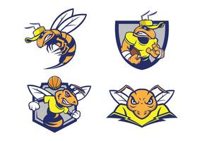 Fri Hornets Mascot vektor