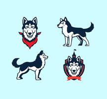 Huskies Mascot Vector