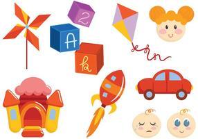 Fria leksaker och barn vektorer