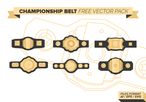 Championship Belt Free Vector Pack