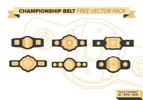Championship Belt Gratis Vector Pack