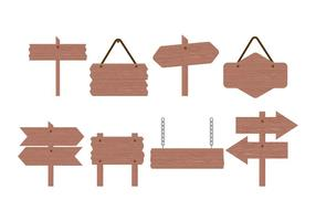 Wood Sign Board Vector Collection