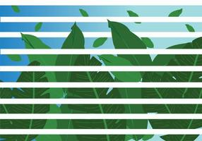 Jungle Leaves with Stripes Vector