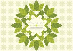 Green Leaf Daun Background Vector