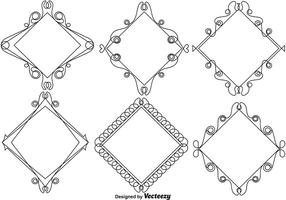 Ornamental Line Style Frames - Vector