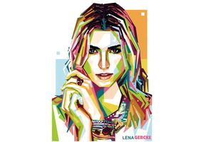 Lena Gercke Model WPAP Vector