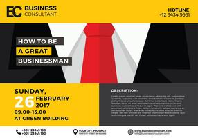 Business Seminar Poster Template Vector