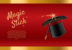 Magic Stick-Vorlage Vektor