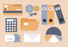 Zakelijk Office Elements Vector