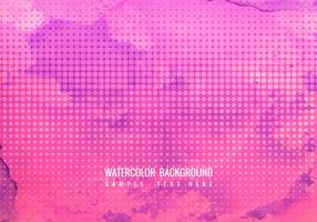 Free Vector Pink Watercolor Background With Halftone