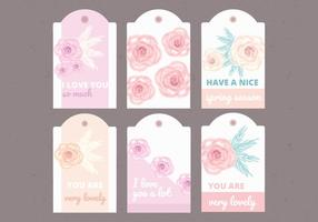 Vector Collection of Floral Labels