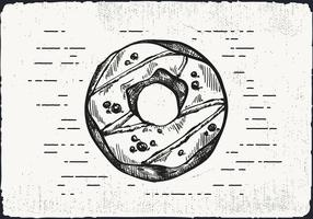 Free Hand Drawn Donut Background vector