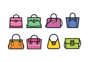 Colorful Hand Bag Set vector