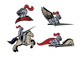 Fri Lancers Mascot vektor