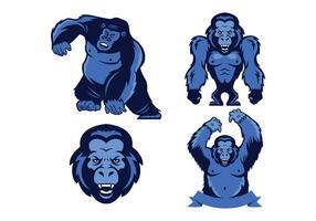 Vecteur gratuit de mascotte de singes
