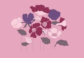 Einfache Petunia Vektor