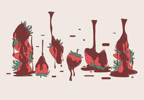Chocolate Covered Strawberry Vectors