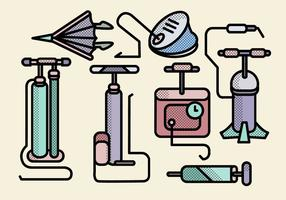 Verschiedene Luftpumpe Werkzeuge Vektoren