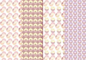 Collection Vector Patterns Seamless Donuts