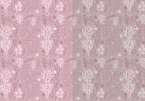 Twee Vector Patterns of Hand Drawn Bloemen Elementen