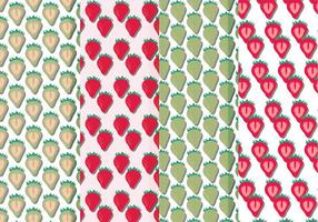 Vector Seamless Patterns of Strawberries
