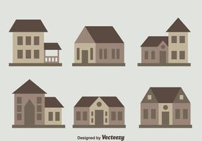 Chalet Collection Flat Vector