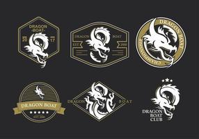 vettore festival di drago barca logo