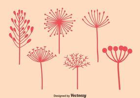 Vettori di tarassaco rosa